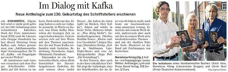 """Buchpremiere: """"Kafka - ein Doppelgänger zweier Welten"""""""