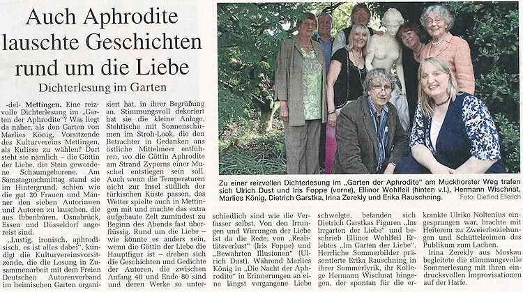Artikel in der Ibbenbürener Volkszeitung vom 31.5.2010